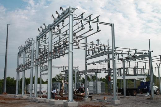 industrial park south substation upgrade pes energize